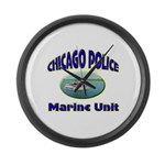 Chicago PD Marine Unit Large Wall Clock