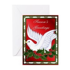 Dove and Holly Greeting Cards (Pk of 10)