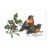 Vintage Holly Birds Postcards (Package of 8)