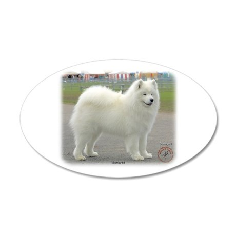 Samoyed 8w19d-18 22x14 Oval Wall Peel