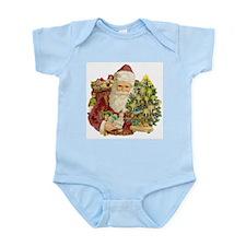 Santa and Small Tree Infant Bodysuit