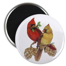"Winter Cardinals 2.25"" Magnet (10 pack)"
