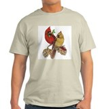 Winter Cardinals Ash Grey T-Shirt