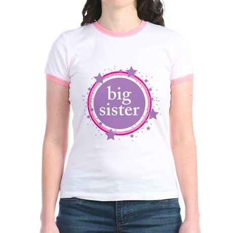 pink & purple big sister Jr. Ringer T-Shirt