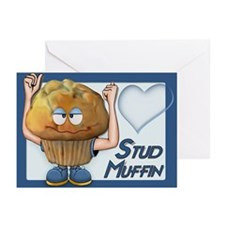 Stud Muffin -Inside Verse Greeting Cards (Pk of 10