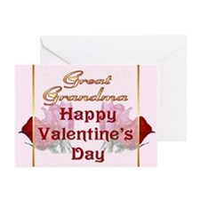 Valentine Roses for Great Grandma Greeting Cards (
