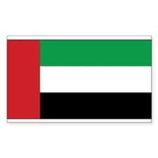 United Arab Emirates Flag Rectangle Decal