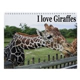 GIRAFFES Wall Calendar