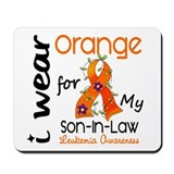 I Wear Orange 43 Leukemia Mousepad
