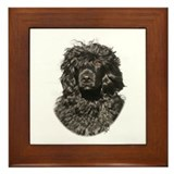 Portuguese Water Dog 9Y522D-037 Framed Tile