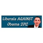 Liberals Against Obama bumper sticker