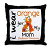 I Wear Orange 43 Leukemia Throw Pillow