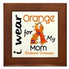I Wear Orange 43 Leukemia Framed Tile