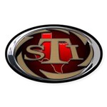 STI Oval Sticker 1