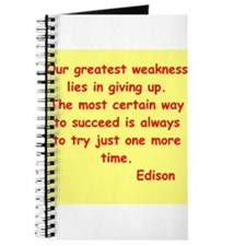 Thomas Edison quotes Journal