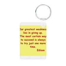 Thomas Edison quotes Keychains