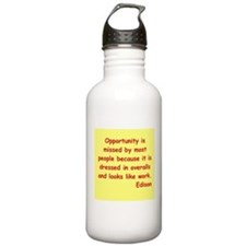 Thomas Edison quotes Water Bottle