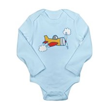 Big Airplane Long Sleeve Infant Bodysuit