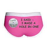 Hole in one golf Ladies Boy Shorts