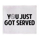 Got served - Volleyball Throw Blanket