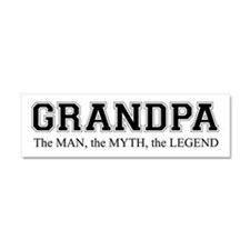 Grandpa the Man Myth Legend Car Magnet 10 x 3