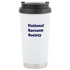 National Sarcasm Society Ceramic Travel Mug
