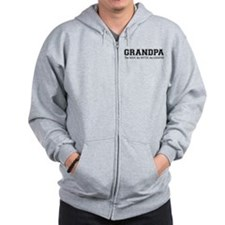 Grandpa the Man Myth Legend Zip Hoodie