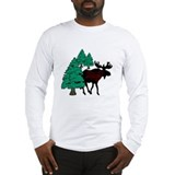 Moose in the Woods Long Sleeve T-Shirt