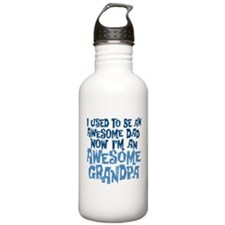 Awesome Dad Now Awesome Grandpa Water Bottle