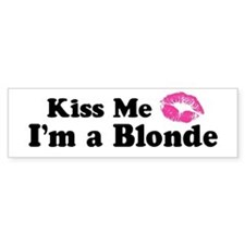 Kiss Me I'm a Blonde Bumper Car Sticker