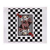 The Knave of Hearts Throw Blanket