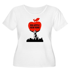 Big Apple, New York Women's Plus Size Scoop Neck T