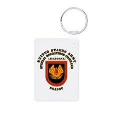 SOF - USASOC Flash with Text Keychains