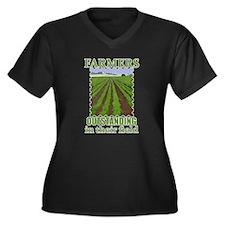 Outstanding Farmers Women's Plus Size V-Neck Dark