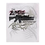 Zombie Whisperer Hunter M16 Throw Blanket