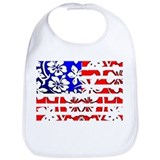 Hawaiian American Flag Bib