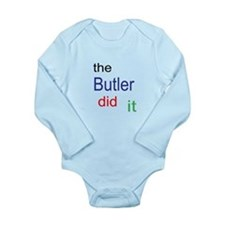 The Butler Did It Long Sleeve Infant Bodysuit