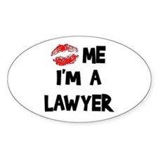 Kiss Me I'm A Lawyer Oval Decal