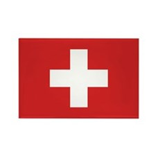 Switzerland Civil Ensign Rectangle Magnet (10 pack