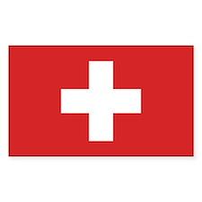 Switzerland Civil Ensign Rectangle Decal