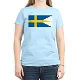 Sweden Naval Ensign Women's Pink T-Shirt