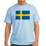 Sweden Flag Ash Grey T-Shirt