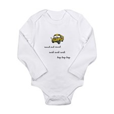 The wheels on the bus Long Sleeve Infant Bodysuit