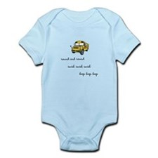 The wheels on the bus Infant Bodysuit