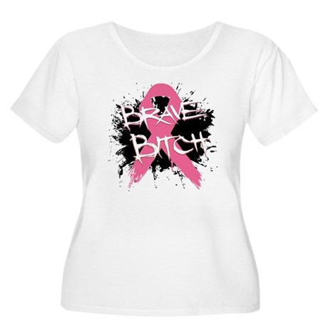 Brave Bitch Breast Cancer Women's Plus Size Scoop