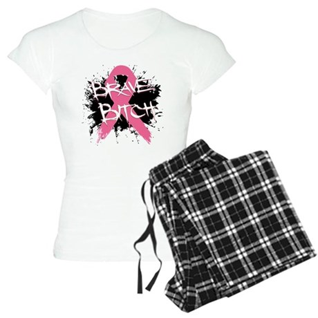 Brave Bitch Breast Cancer Women's Light Pajamas