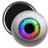 The Eye: Rainbow 2.25&quot; Magnet (10 pack)