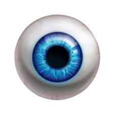 "The Eye: Electric 3.5"" Button (100 pack)"
