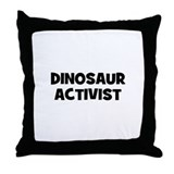 Dinosaur Activist Throw Pillow