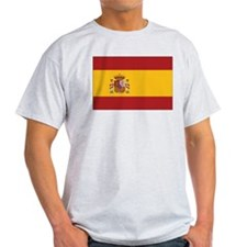 Spain State Flag Ash Grey T-Shirt